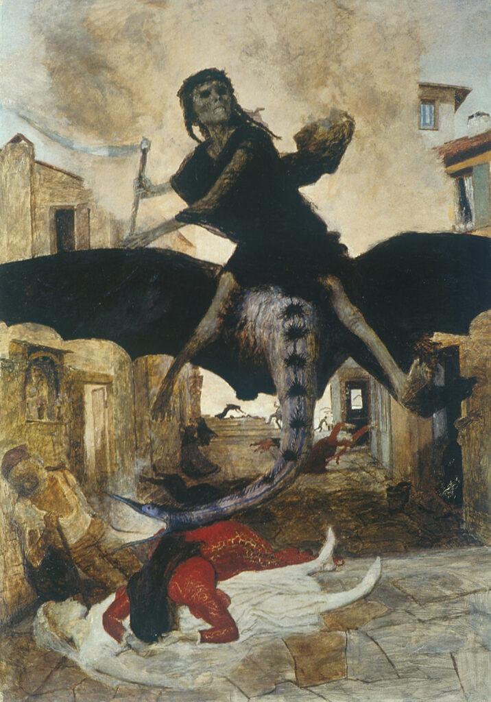 "Arnold Boecklin 1898 painting ""Plague"""